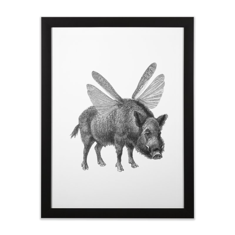 When Pigs Fly Home Framed Fine Art Print by TeeGoo's Shop