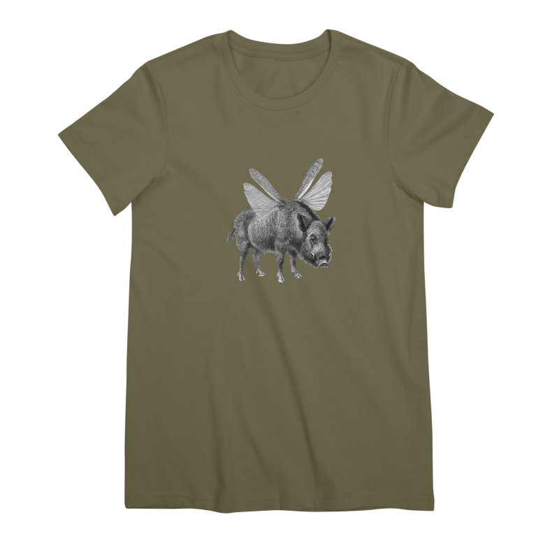 When Pigs Fly Women's Premium T-Shirt by TeeGoo's Shop