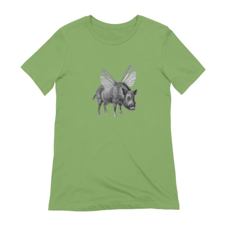 When Pigs Fly Women's Extra Soft T-Shirt by TeeGoo's Shop