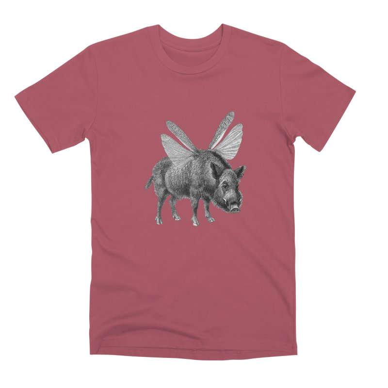 When Pigs Fly Men's Premium T-Shirt by TeeGoo's Shop