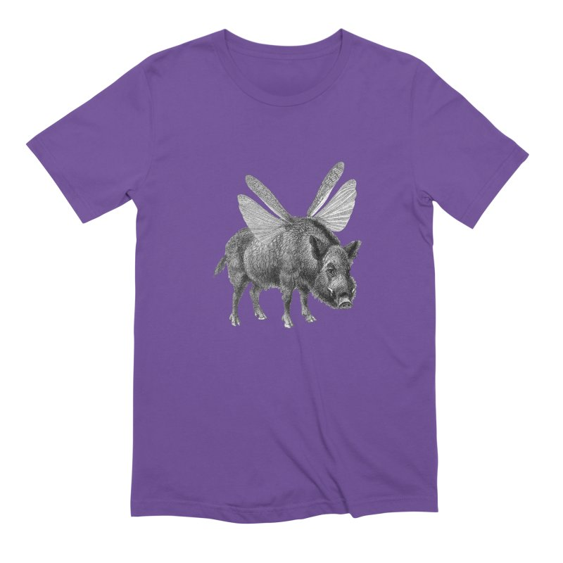 When Pigs Fly Men's Extra Soft T-Shirt by TeeGoo's Shop