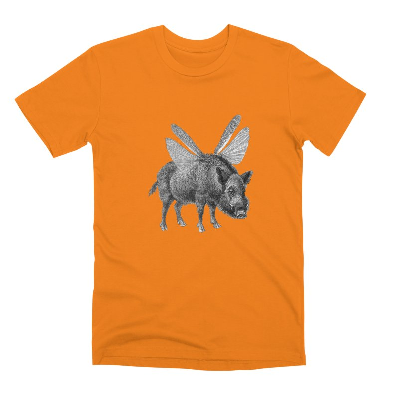 When Pigs Fly Men's Premium T-Shirt by TeeGoo's Shop