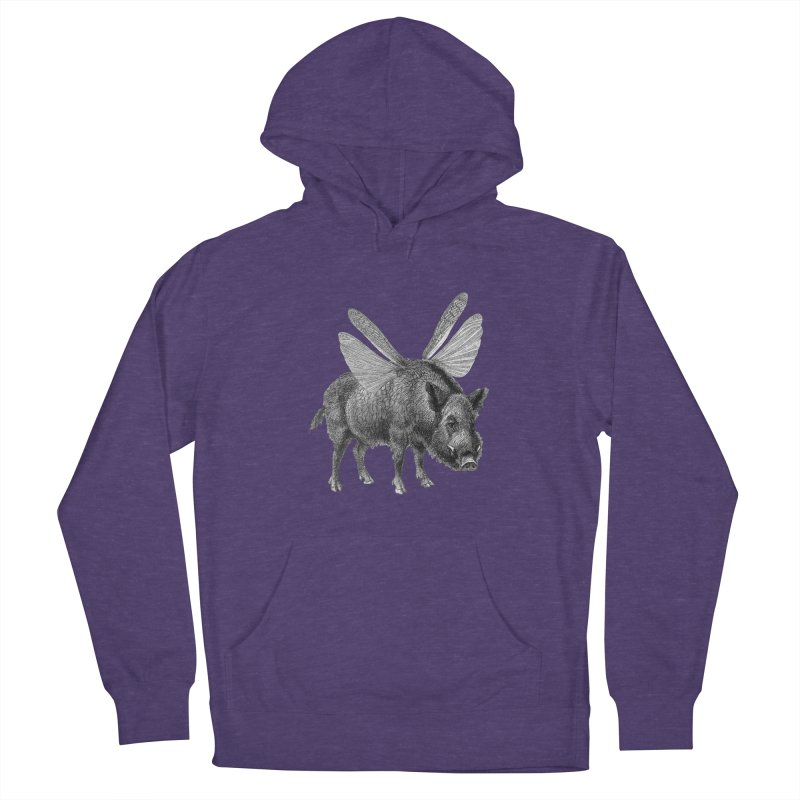 When Pigs Fly Men's French Terry Pullover Hoody by TeeGoo's Shop