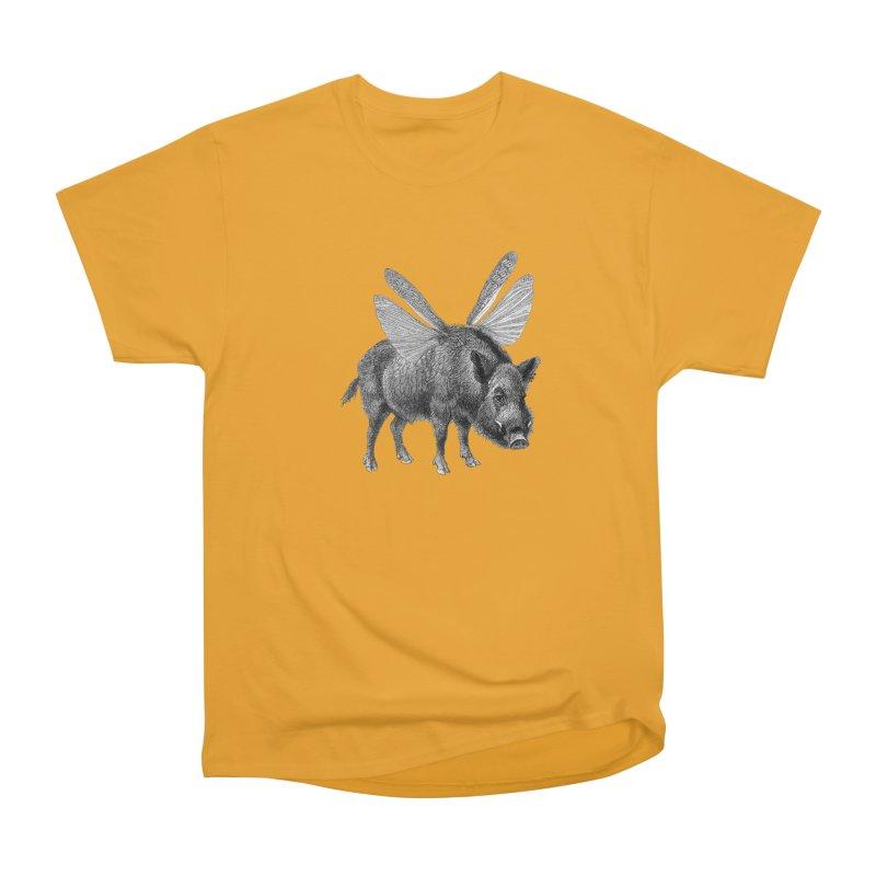 When Pigs Fly Women's Heavyweight Unisex T-Shirt by TeeGoo's Shop