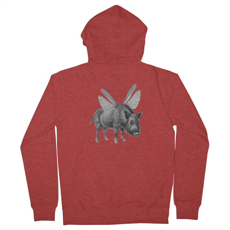 When Pigs Fly Women's French Terry Zip-Up Hoody by TeeGoo's Shop