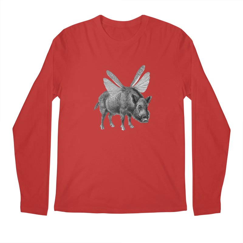 When Pigs Fly Men's Regular Longsleeve T-Shirt by TeeGoo's Shop