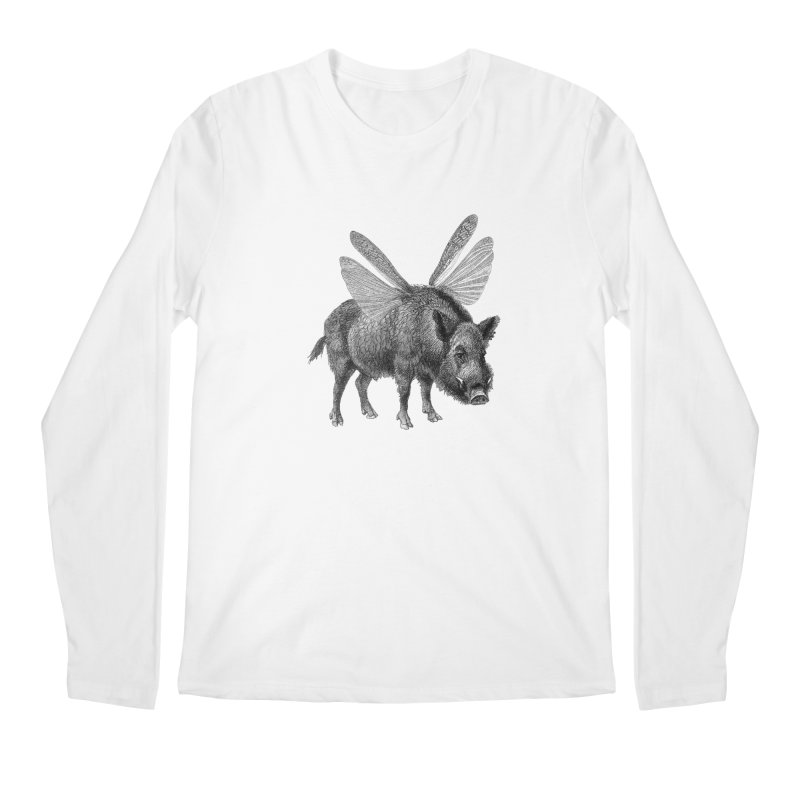 When Pigs Fly Men's Regular Longsleeve T-Shirt by TeeGoo's Shop