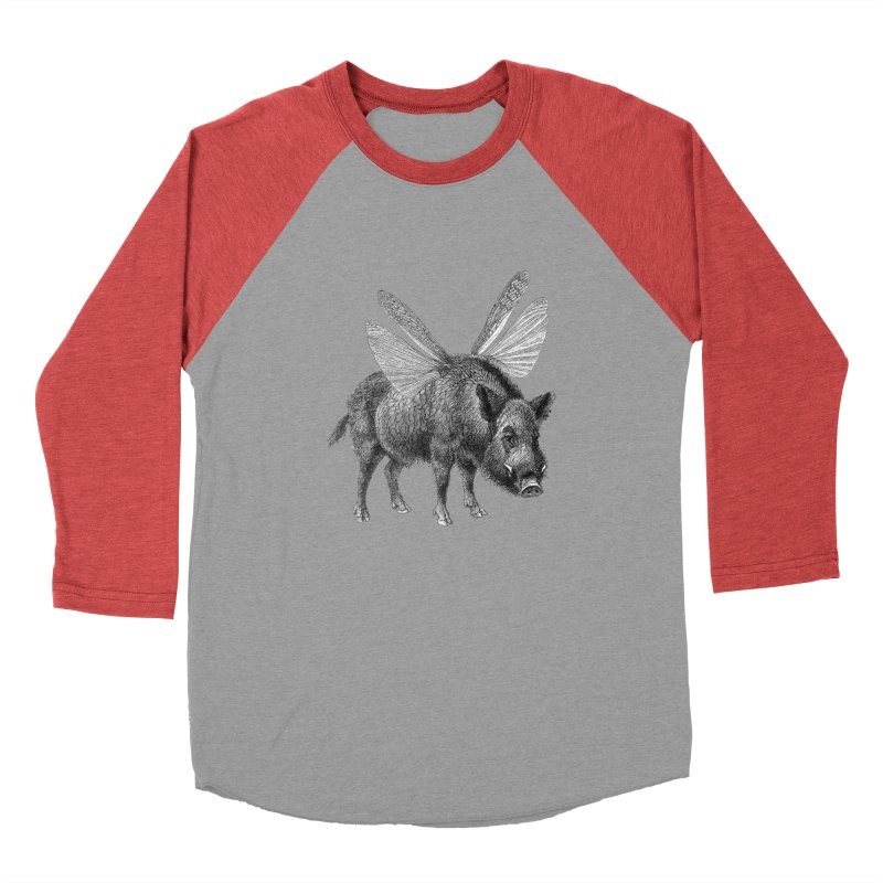 When Pigs Fly Women's Baseball Triblend Longsleeve T-Shirt by TeeGoo's Shop