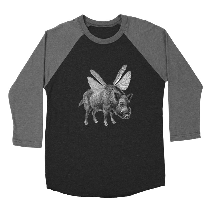 When Pigs Fly Women's Baseball Triblend Longsleeve T-Shirt by TeeGoo's Shop