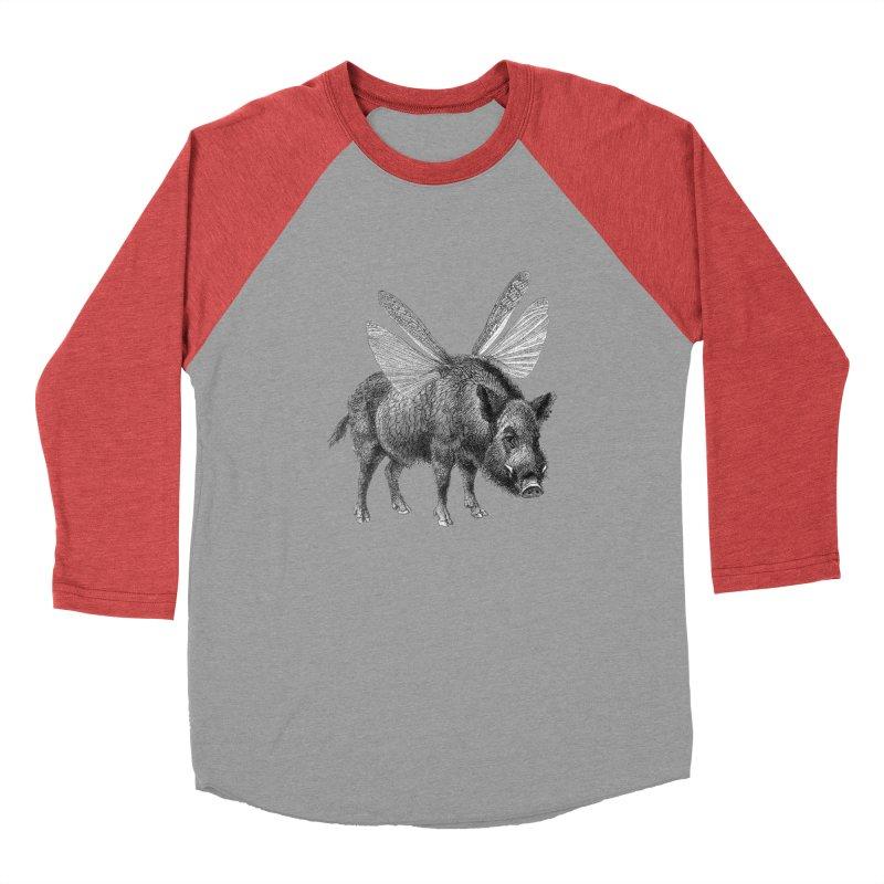 When Pigs Fly Men's Baseball Triblend Longsleeve T-Shirt by TeeGoo's Shop