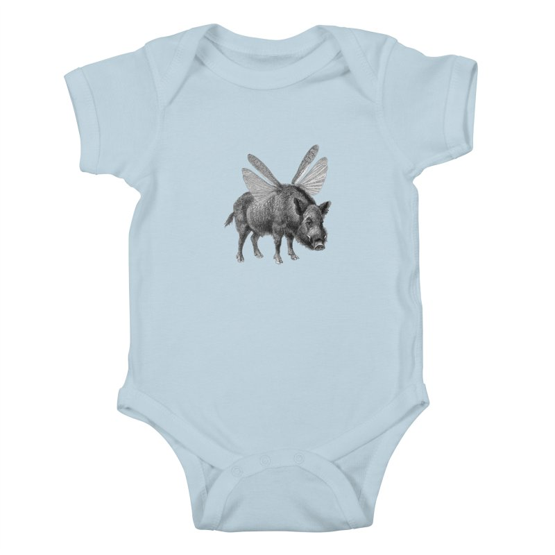 When Pigs Fly Kids Baby Bodysuit by TeeGoo's Shop