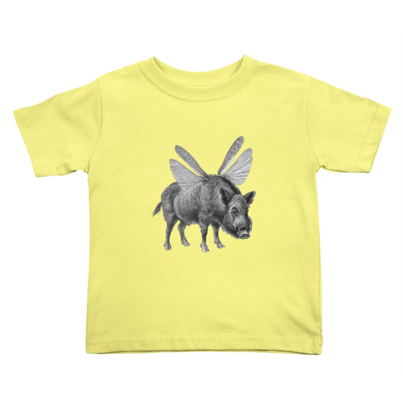 When Pigs Fly Kids Toddler T-Shirt by TeeGoo's Shop