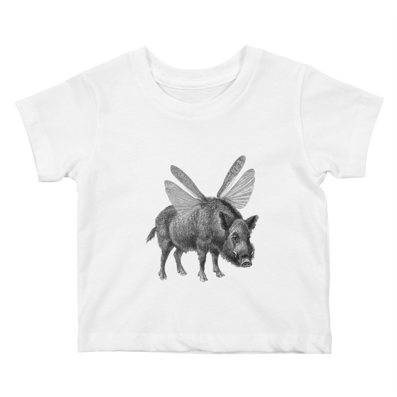 When Pigs Fly Kids Baby T-Shirt by TeeGoo's Shop