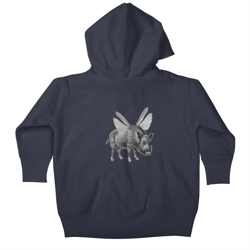 When Pigs Fly Kids Baby Zip-Up Hoody by TeeGoo's Shop