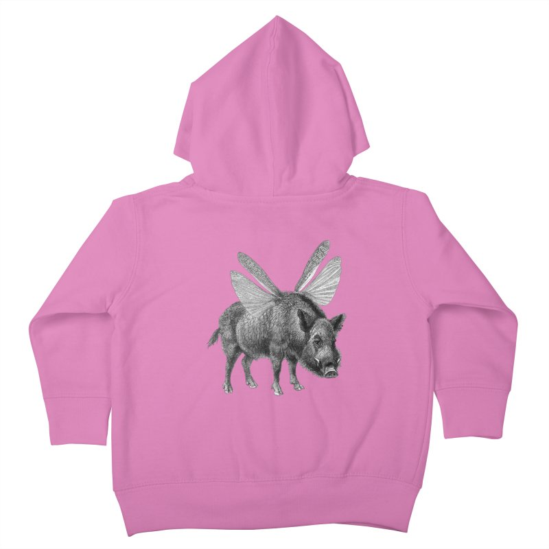 When Pigs Fly Kids Toddler Zip-Up Hoody by TeeGoo's Shop