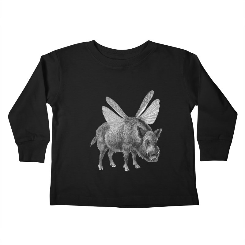 When Pigs Fly Kids Toddler Longsleeve T-Shirt by TeeGoo's Shop