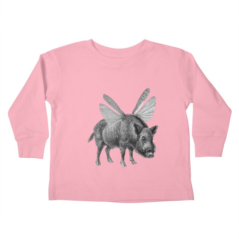 When Pigs Fly Kids Toddler Longsleeve T-Shirt by TeeGoo's Shop