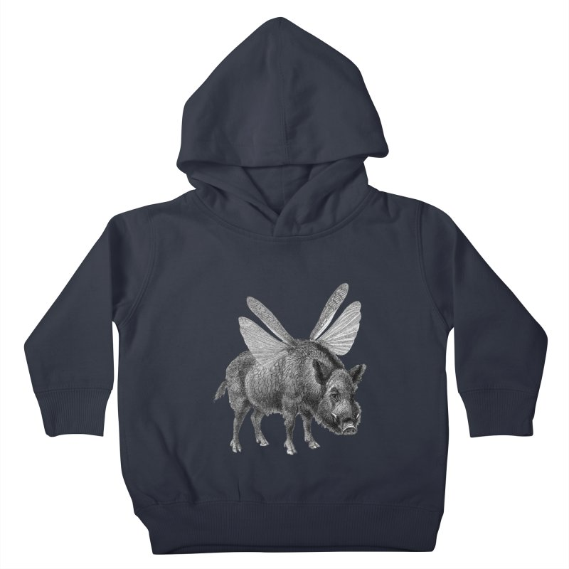When Pigs Fly Kids Toddler Pullover Hoody by TeeGoo's Shop