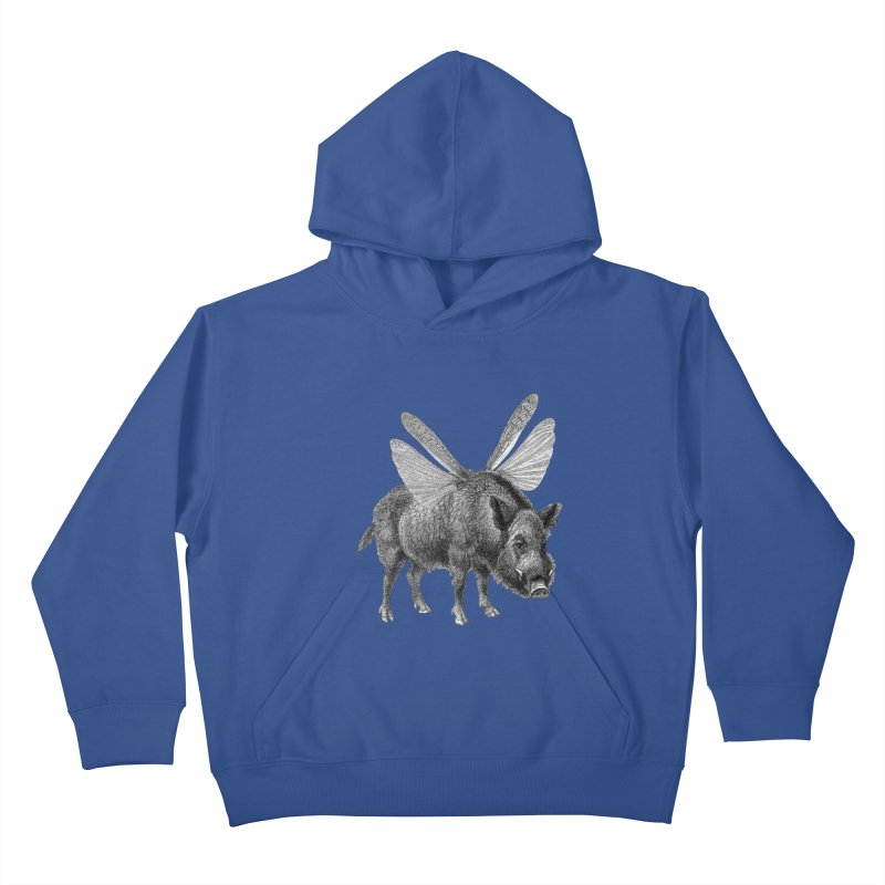 When Pigs Fly Kids Pullover Hoody by TeeGoo's Shop