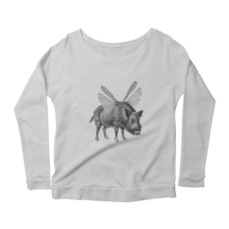 When Pigs Fly Women's Scoop Neck Longsleeve T-Shirt by TeeGoo's Shop