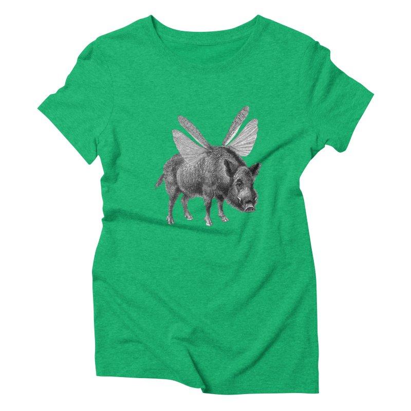 When Pigs Fly Women's Triblend T-Shirt by TeeGoo's Shop