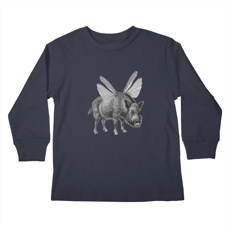 When Pigs Fly Kids Longsleeve T-Shirt by TeeGoo's Shop