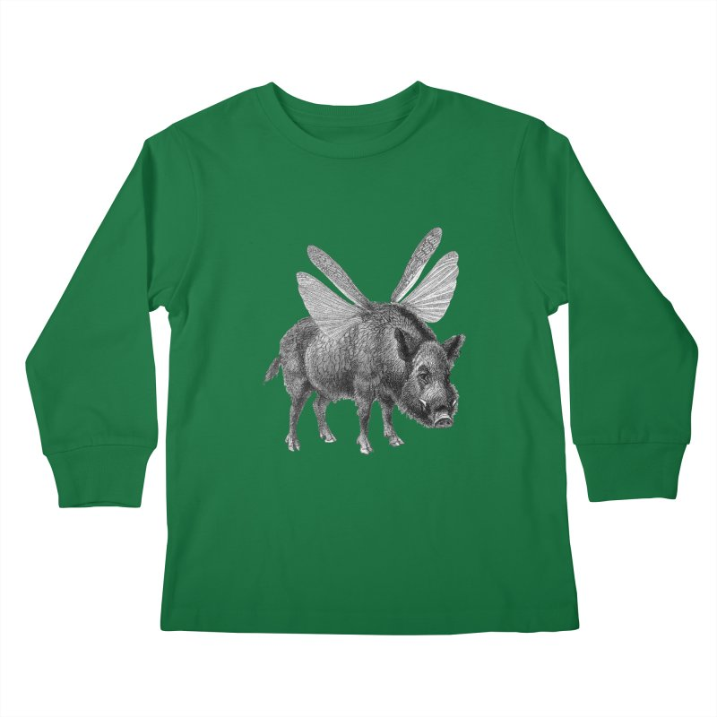 When Pigs Fly Kids Longsleeve T-Shirt by TeeGoo's Shop