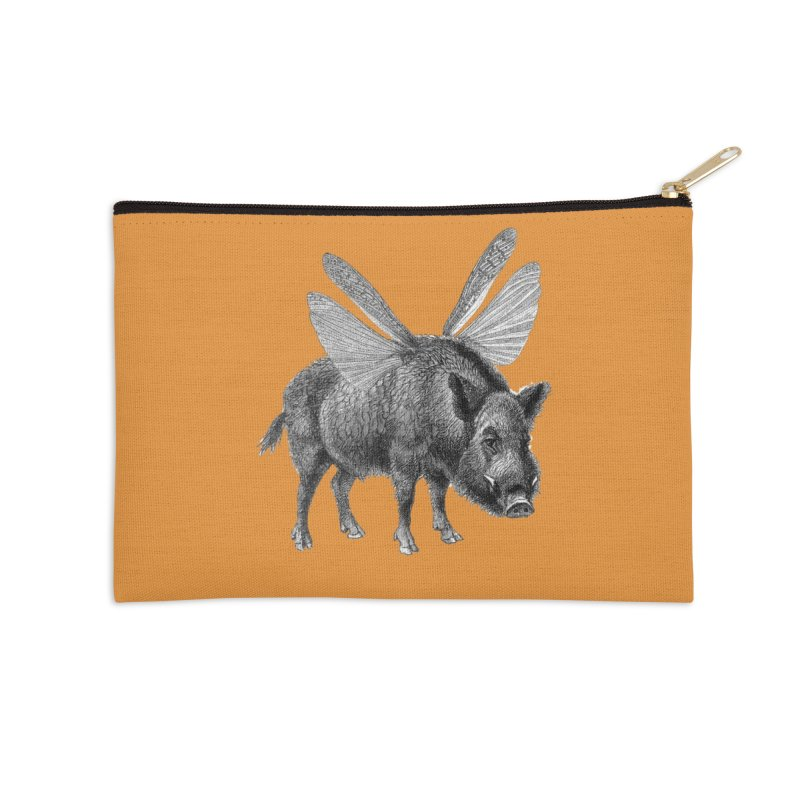 When Pigs Fly Accessories Zip Pouch by TeeGoo's Shop