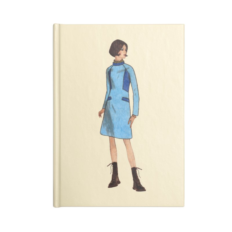 Mod Girl in Combat Boots Accessories Lined Journal Notebook by TeeGoo's Shop