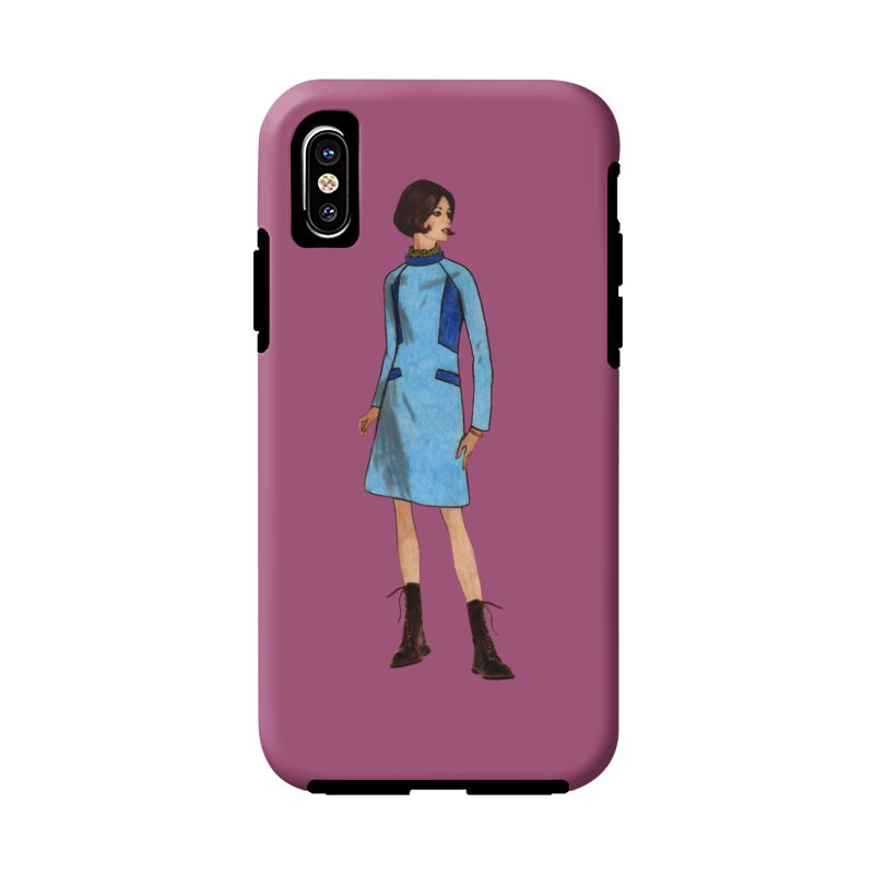 Mod Girl in Combat Boots in iPhone X / XS Phone Case Tough by TeeGoo's Shop