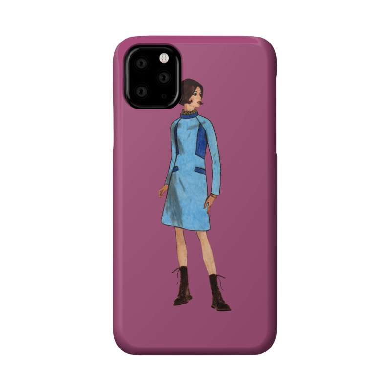 Mod Girl in Combat Boots Accessories Phone Case by TeeGoo's Shop