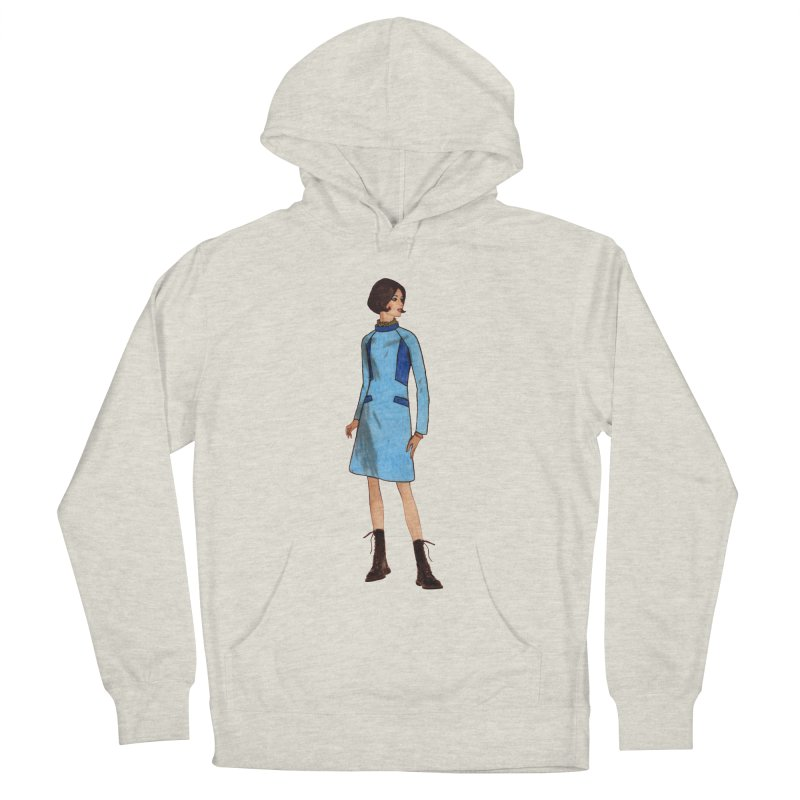 Mod Girl in Combat Boots Women's French Terry Pullover Hoody by TeeGoo's Shop