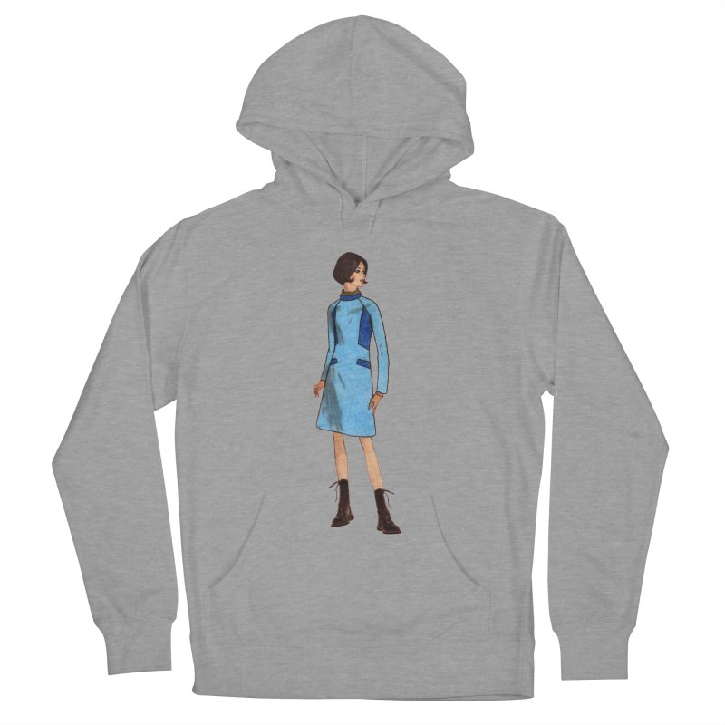 Mod Girl in Combat Boots Men's French Terry Pullover Hoody by TeeGoo's Shop