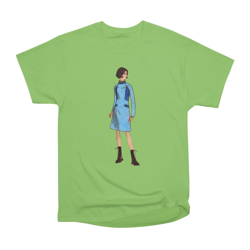 Mod Girl in Combat Boots Women's Heavyweight Unisex T-Shirt by TeeGoo's Shop
