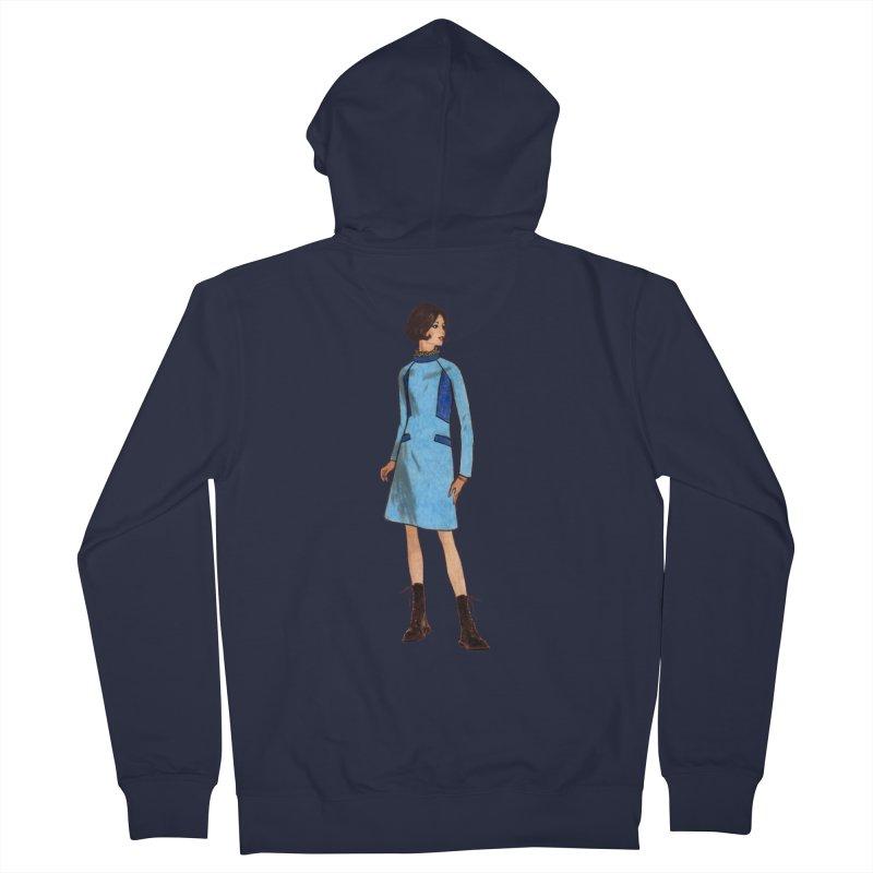 Mod Girl in Combat Boots Women's French Terry Zip-Up Hoody by TeeGoo's Shop