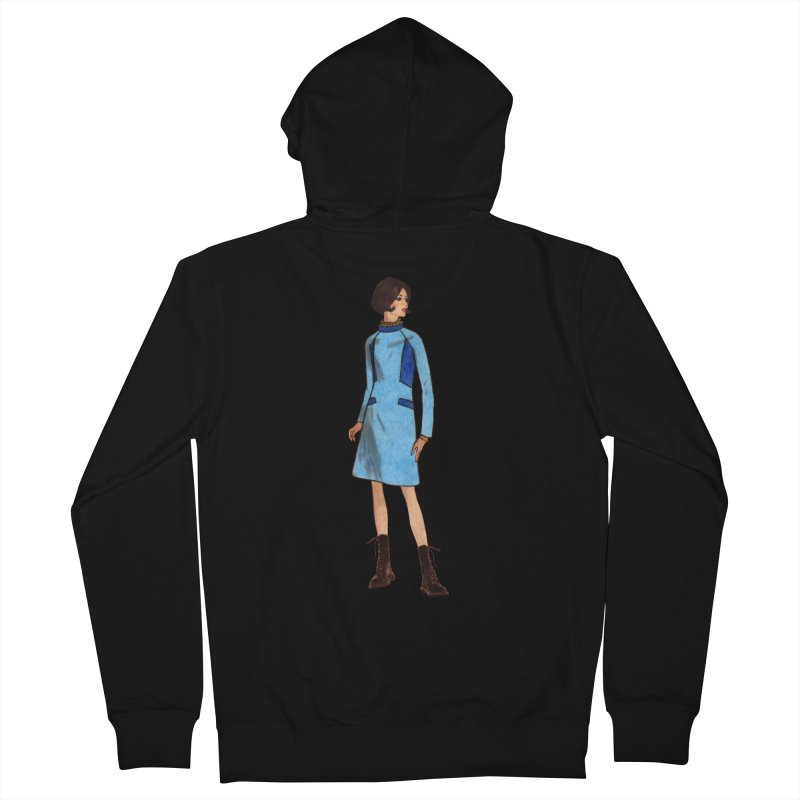 Mod Girl in Combat Boots Men's French Terry Zip-Up Hoody by TeeGoo's Shop