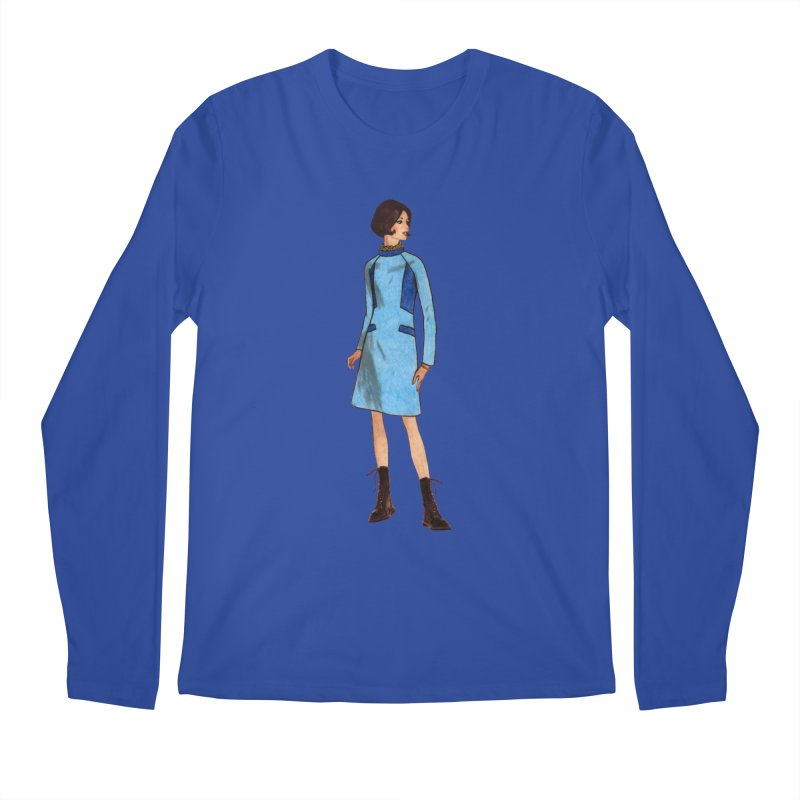 Mod Girl in Combat Boots Men's Regular Longsleeve T-Shirt by TeeGoo's Shop