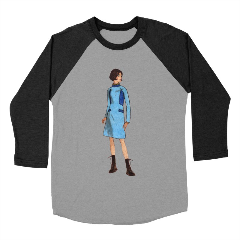 Mod Girl in Combat Boots Women's Baseball Triblend Longsleeve T-Shirt by TeeGoo's Shop