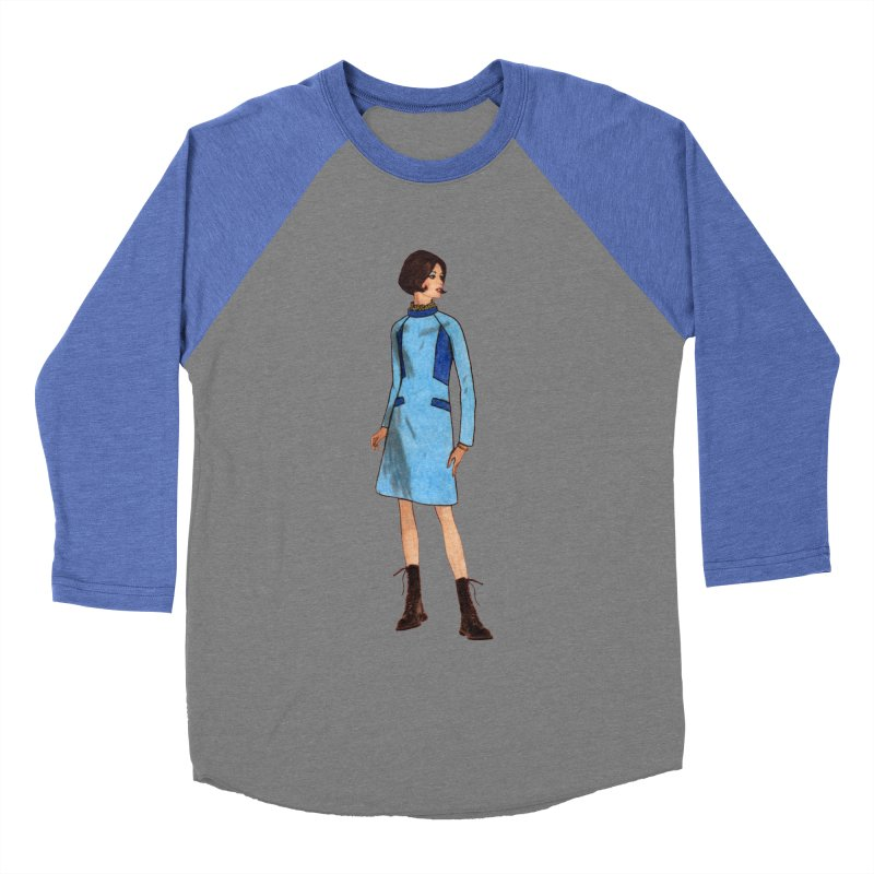 Mod Girl in Combat Boots Men's Baseball Triblend Longsleeve T-Shirt by TeeGoo's Shop