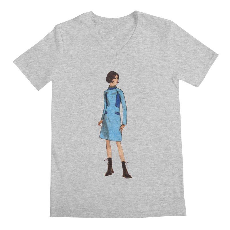 Mod Girl in Combat Boots Men's Regular V-Neck by TeeGoo's Shop