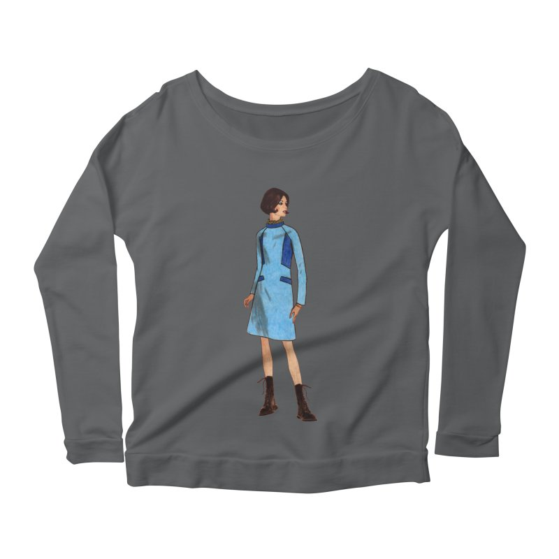 Mod Girl in Combat Boots Women's Scoop Neck Longsleeve T-Shirt by TeeGoo's Shop