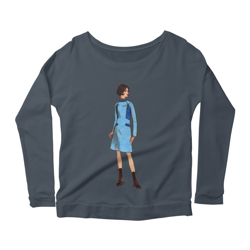 Mod Girl in Combat Boots Women's Scoop Neck Longsleeve T-Shirt by TeeGoo's Shop