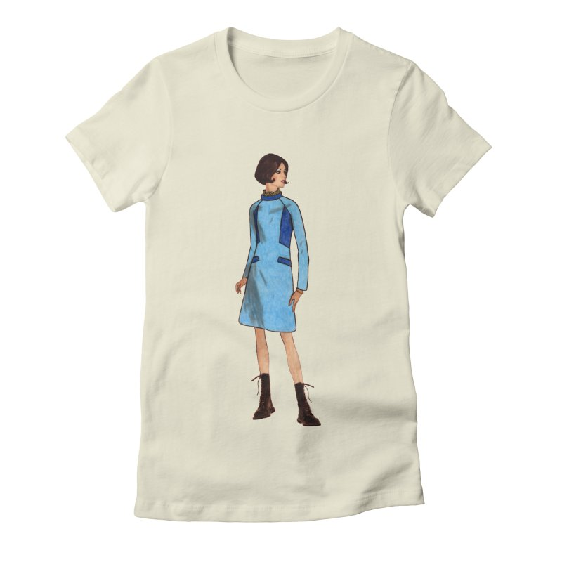 Mod Girl in Combat Boots Women's Fitted T-Shirt by TeeGoo's Shop