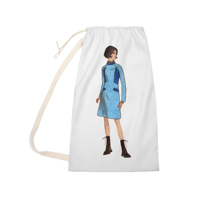 Mod Girl in Combat Boots Accessories Laundry Bag Bag by TeeGoo's Shop