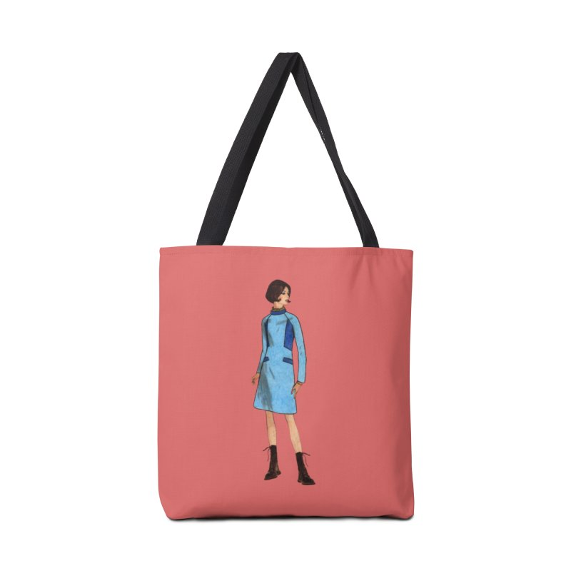 Mod Girl in Combat Boots Accessories Tote Bag Bag by TeeGoo's Shop