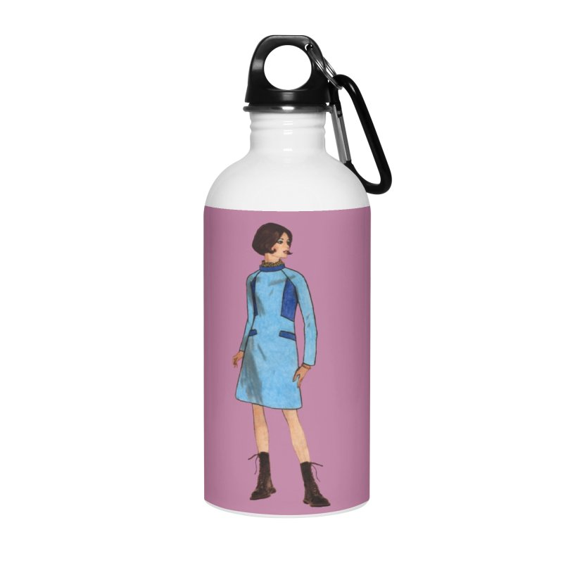 Mod Girl in Combat Boots Accessories Water Bottle by TeeGoo's Shop
