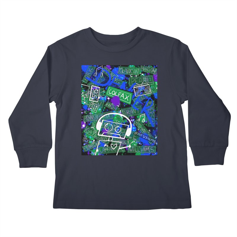 Colfax Character Kids Longsleeve T-Shirt by That5280Lady's Shop