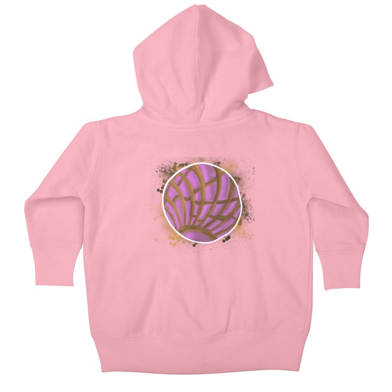 One Pink Concha Kids Baby Zip-Up Hoody by That5280Lady's Shop