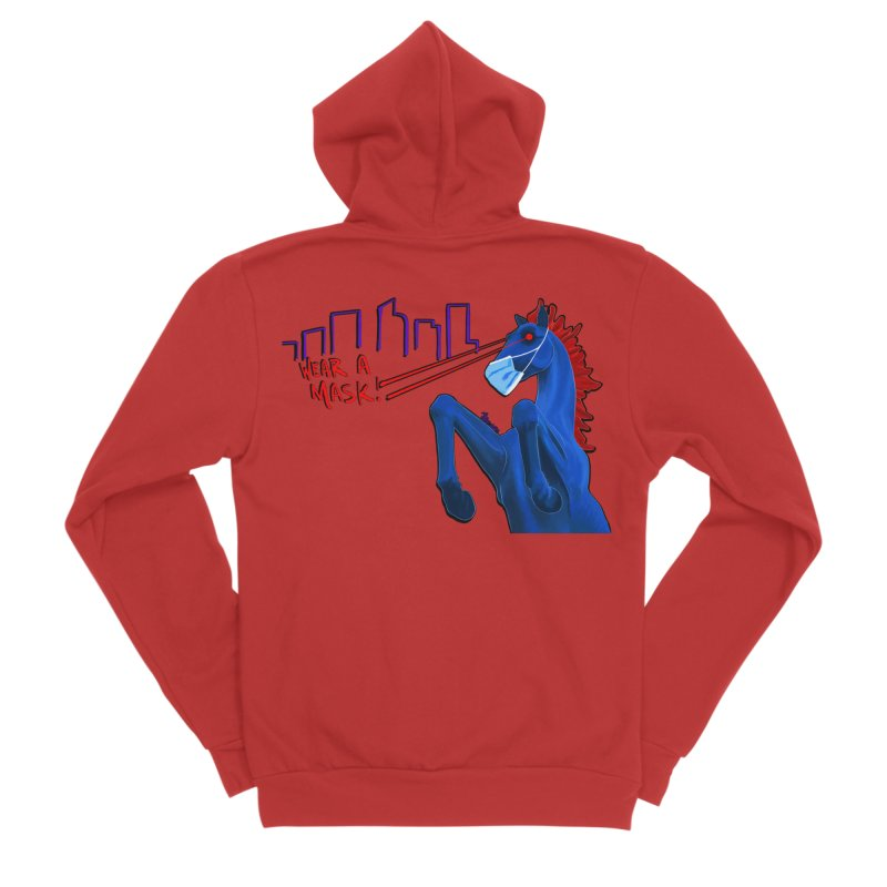 Blucifer Says Wear A Mask Men's Zip-Up Hoody by That5280Lady's Shop