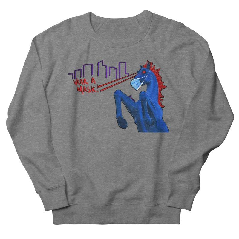 Blucifer Says Wear A Mask Women's Sweatshirt by That5280Lady's Shop